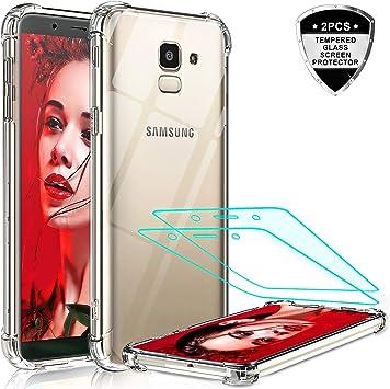LeYi Funda Samsung Galaxy J6 2018 con 2-Unidades Cristal Vidrio ...