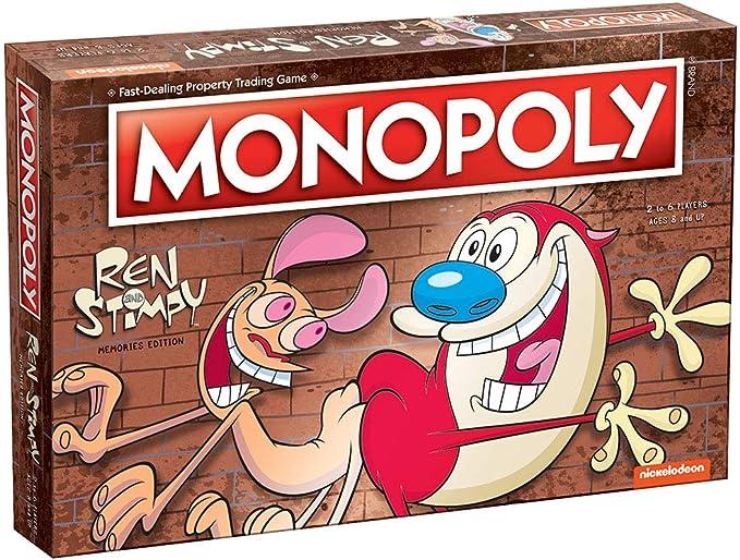 The REN & Stimpy Show Monopoly Juego de Mesa: Amazon.es: Juguetes y juegos
