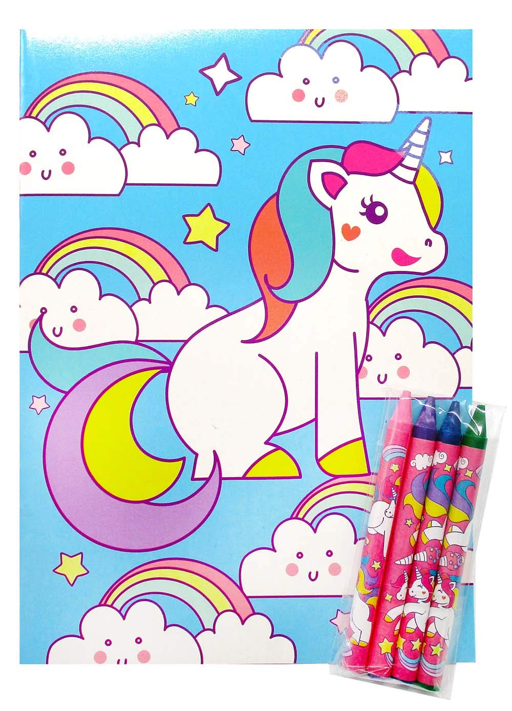 Unicorn Coloring Books with Crayons Party Favors, Set of 12 8