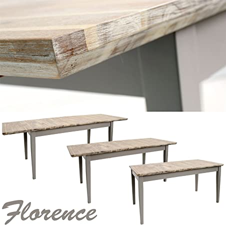 Florence Large Rectangular Kitchen Table Dove Grey Dining Table With Center Extension Extends To 3 Sizes 140 170 200 Quality Kitchen Table Amazon Co Uk Kitchen Home