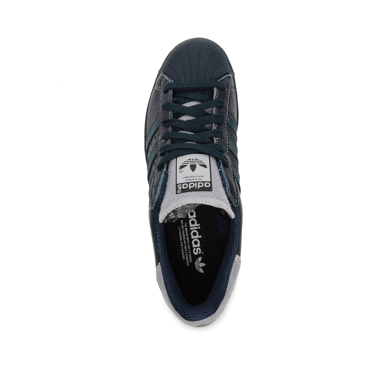 buy online 7af1d 6b5cd adidas Originals Superstar 80s Varsity Jacket Sneaker Blue B25565, Size 47  1 3  Amazon.co.uk  Shoes   Bags
