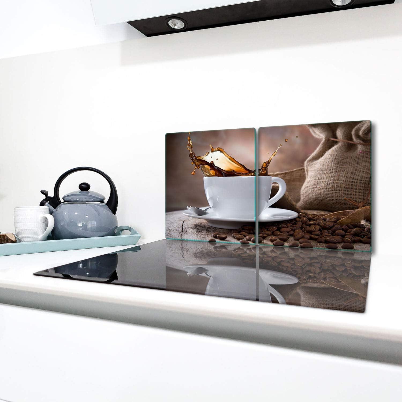 TMK Herdabdeckplatten Set 12x12x512 cm Ceranfeld Abdeckung Glas ...
