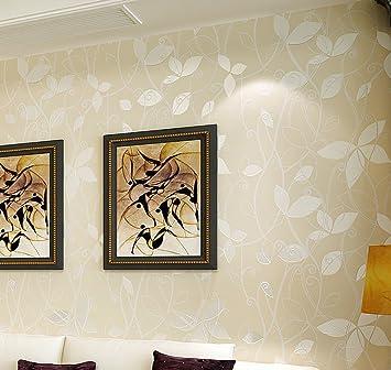 HLMYYO 3D Wallpaper Einfach Und Warm Blume Stereo Vlies Moderne Schlafzimmer  Wohnzimmer Sofa Hintergrund Wand
