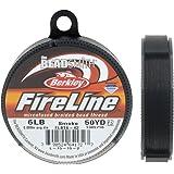 FireLine Microfused Braided Bead Thread .006 Inch Average Diameter Smoke Grey 50 Yard Roll