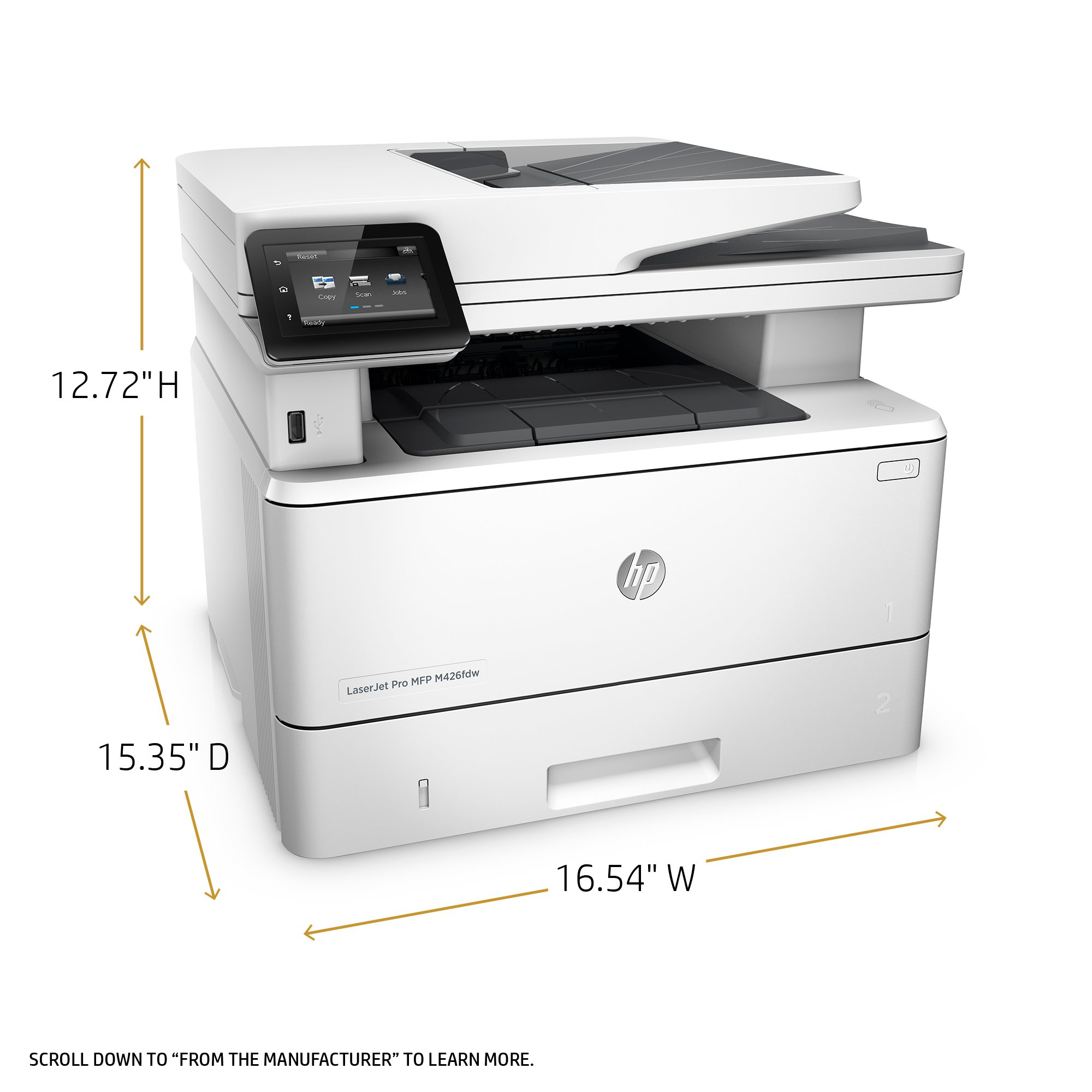 HP LaserJet Pro M426fdw All-in-One Wireless Laser Printer with Double-Sided Printing, Amazon Dash Replenishment ready (F6W15A) by HP (Image #2)