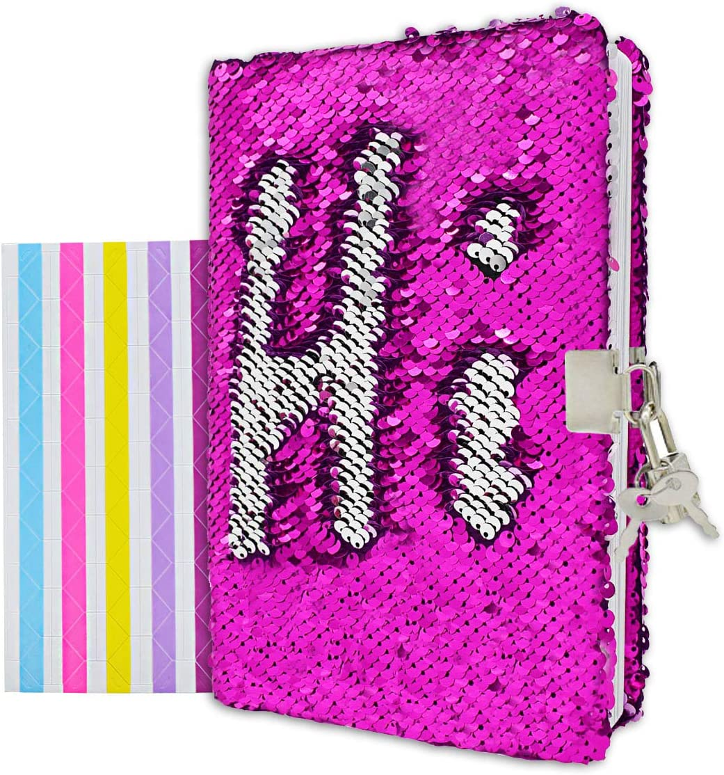 Sequins Journal Diary Writing Notebook With Password Combination Lock Gifts Lin