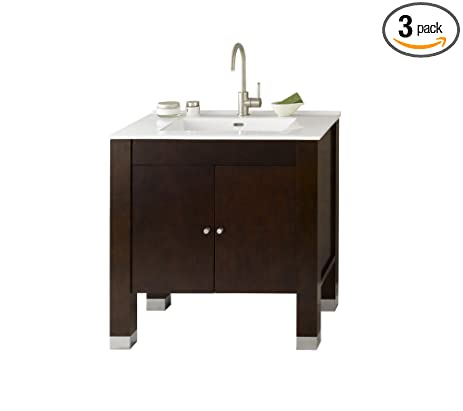 RONBOW Devon 33 Inch Bathroom Vanity Set In Vintage Walnut, Bathroom Vanity  Cabinet With Soft