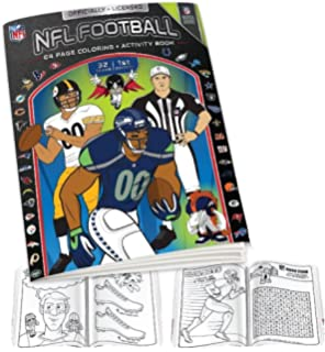 nfl coloring book blackwhite one size - Football Coloring Book