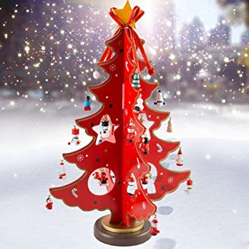 Amazonde Weihnachtsbaum Holz Deko Tannenbaum Klein