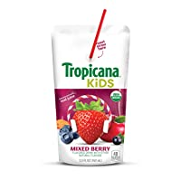 Deals on Tropicana Kids Organic Juice Drink Pouch, Mixed Berry, 5.5 Ounce, 32 Count