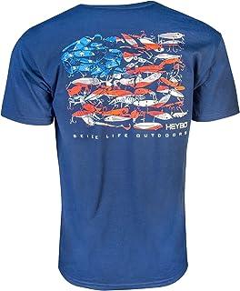fe24c811 Amazon.com: Heybo Inshore Lures SS T-Shirt Coral: Clothing