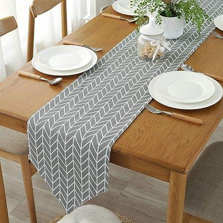 Gwell Chemin De Table En Coton Moderne Simple Nappe Decoration De