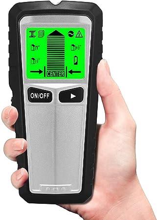 Avviso acustico per legno metallo RISEPRO Wall Finder Sensor Scanner Rilevamento cavi CA 5 in 1 Electronic Stud Sensor Beam Joist Finders Display LCD Rilevatore a parete Rilevamento del centro