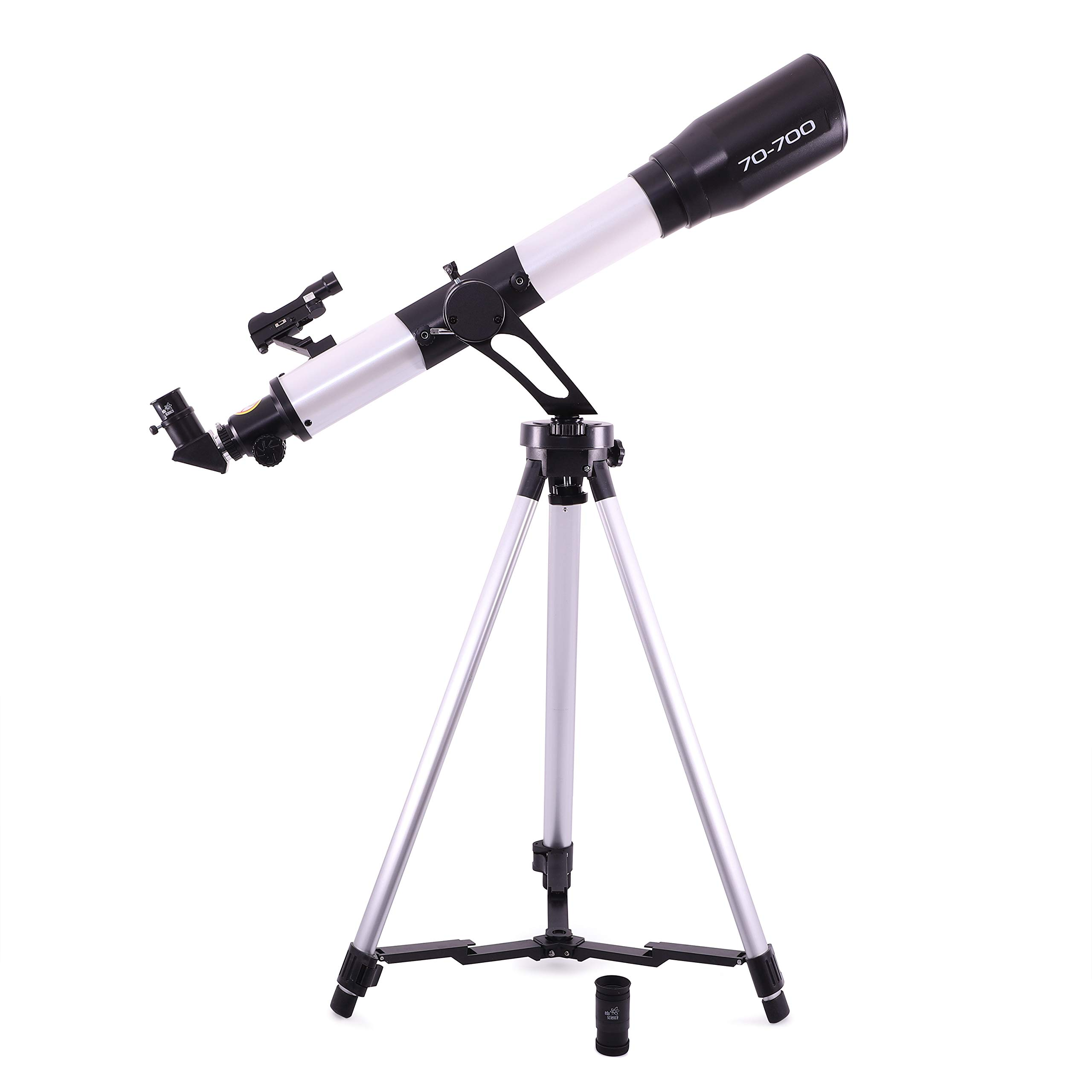 Edu Science 70Mm AZ Sm Refactor Telescope, Black