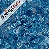 Cheap Blazing Fireglass 10-Pound Fire Glass with Fireplace Glass and Fire Pit Glass, 1/4-Inch, Pacific Blue