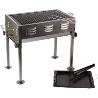 Naitik Creation Portable Barbeque Griller BBQ Grill Machine, Tandoor Grill Barbeque Charcoal with Stand, Cooking Plate Set for Outdoor/Indoor, Picnic and Camping