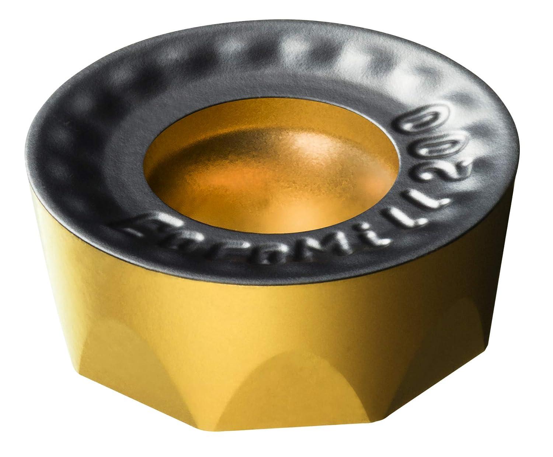 CoroMill 200 Insert for milling Carbide Al2O3 RCKT 10 T3 M0-PH 4340 CVD TiCN Round TiN Sandvik Coromant Neutral Hand 4340 Grade