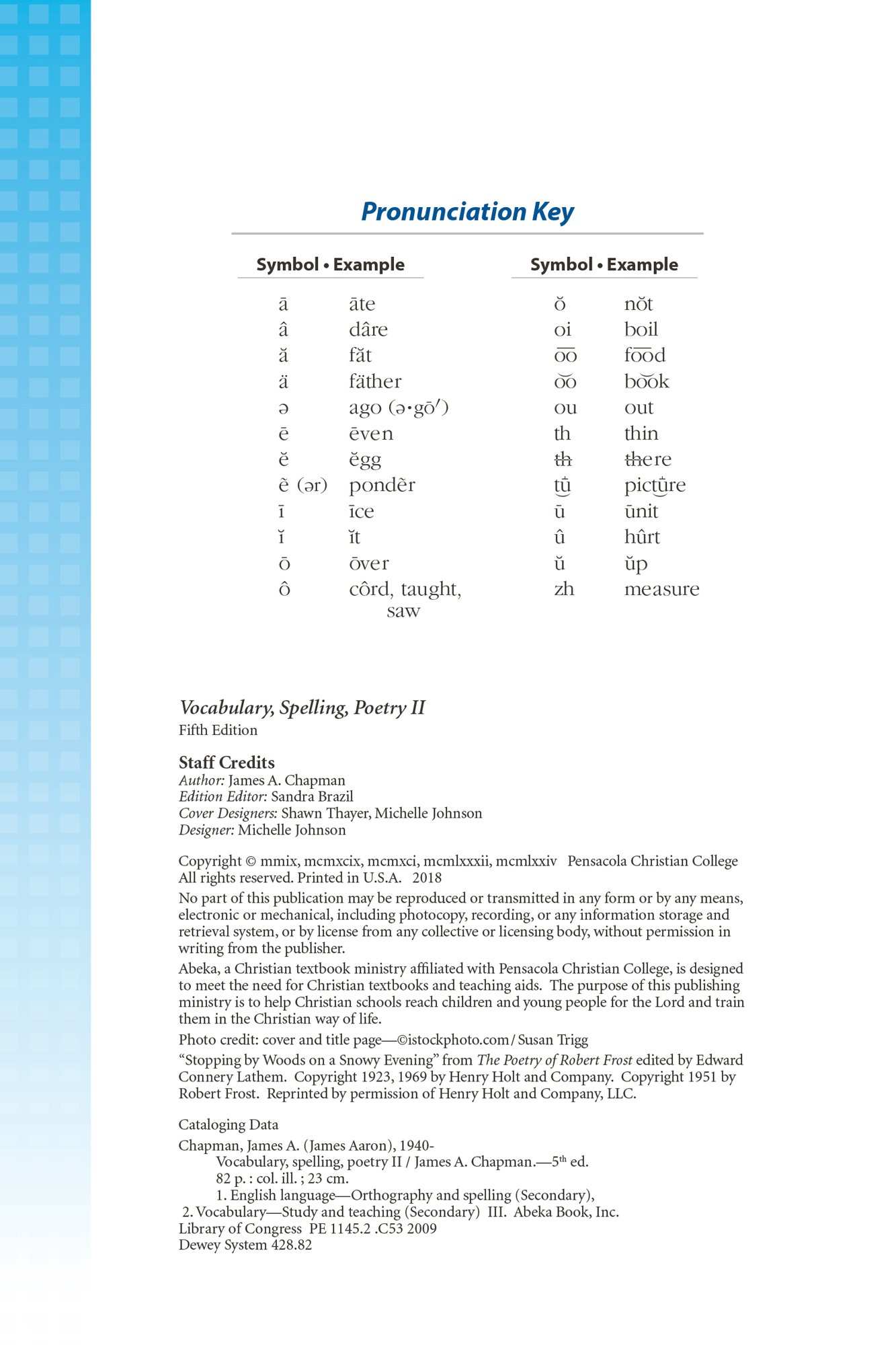 Vocabulary Spelling Poetry Ii James A Chapman Amazon Books