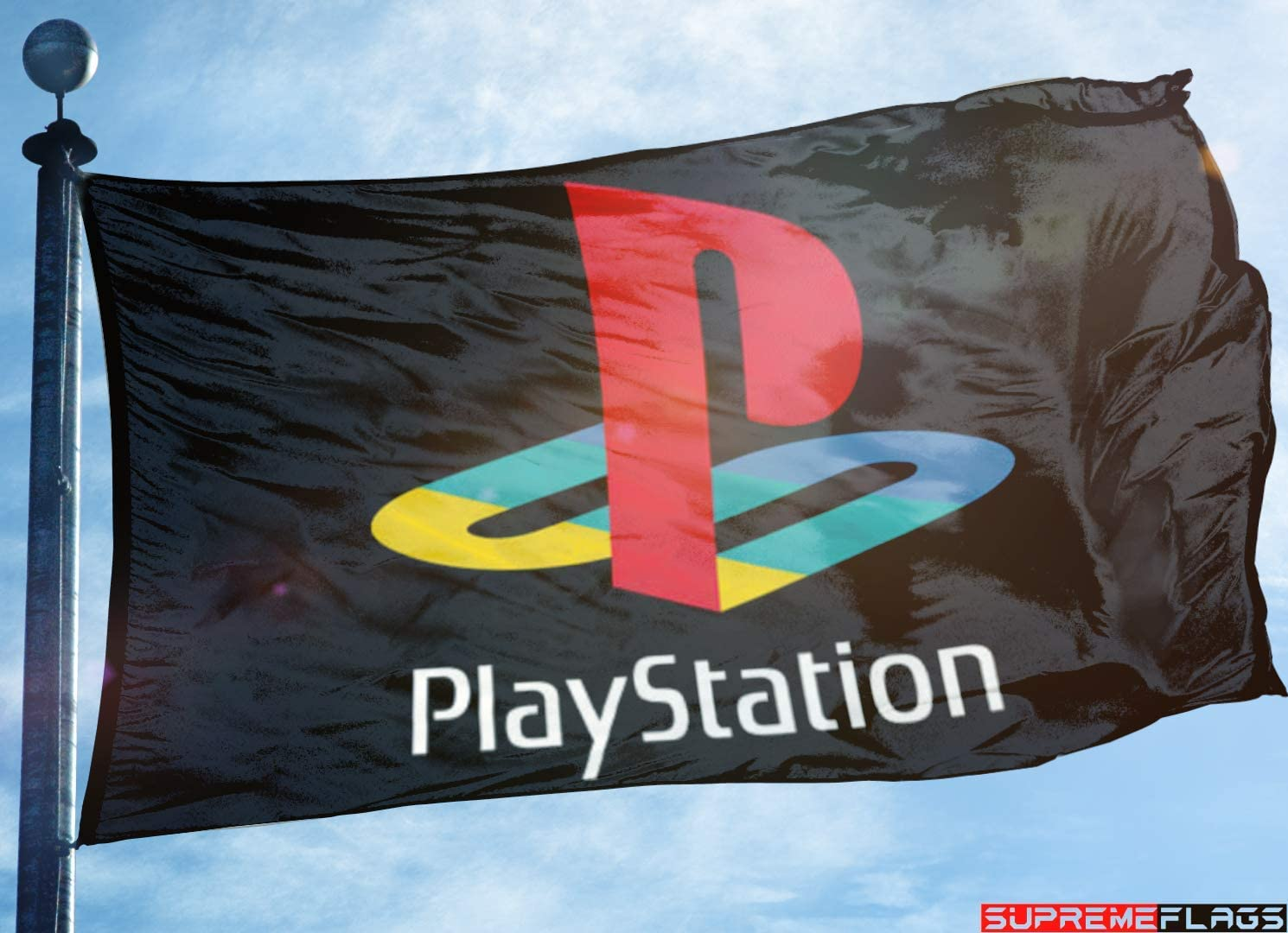Playstation Flag Banner 3x5 Ft Video Game Gaming Ps Play Stration Wall Garage Car Flags Amazon Canada