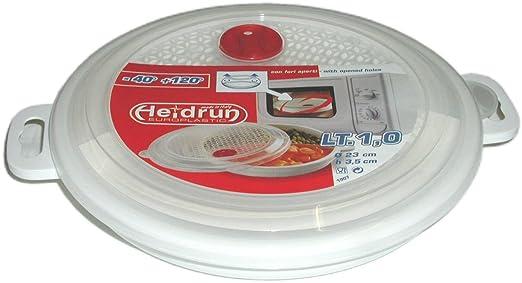 Plato para microondas con tapa (23 cm): Amazon.es: Hogar