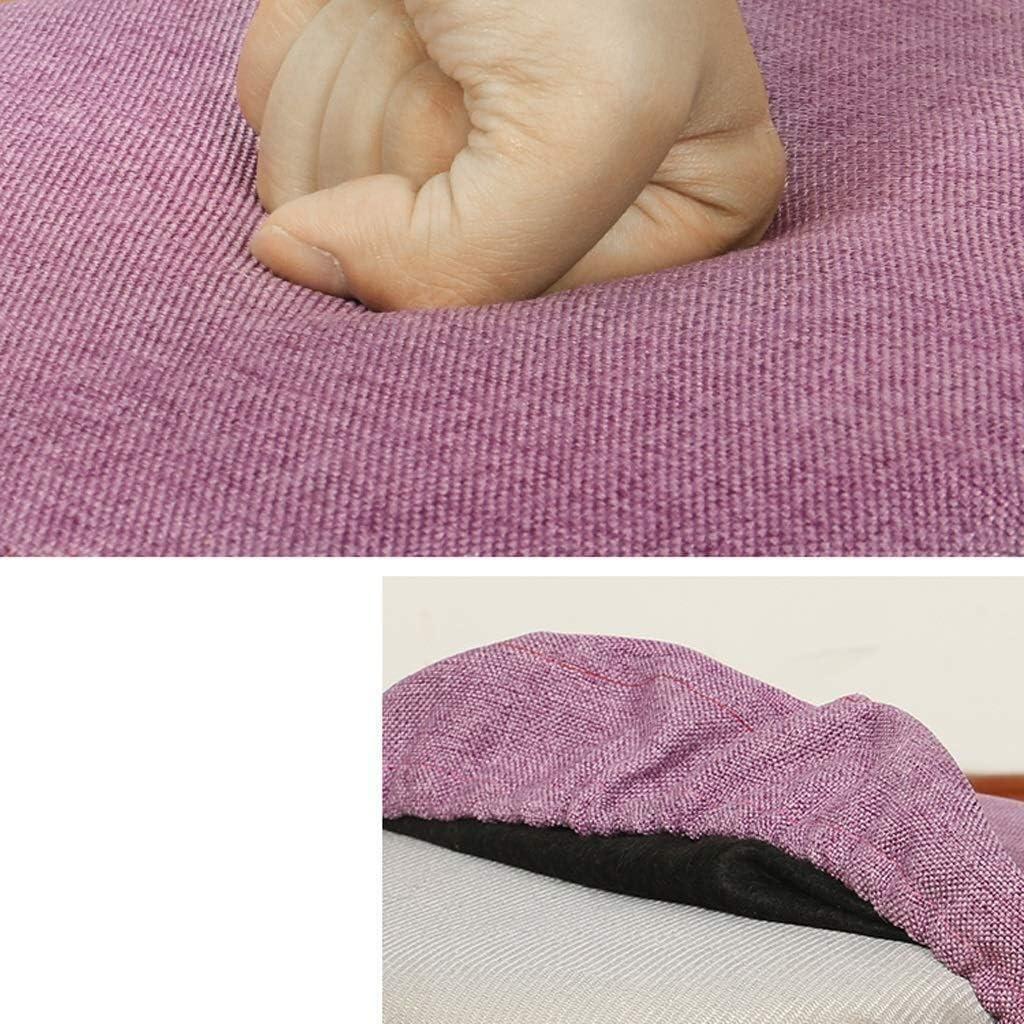 CRRQQ Fußbank abnehmbare Abdeckung Polstersitz Stuhl Fuß Hocker Startseite Gemütlich Sitz Holzbeine (Color : Purple) Gray