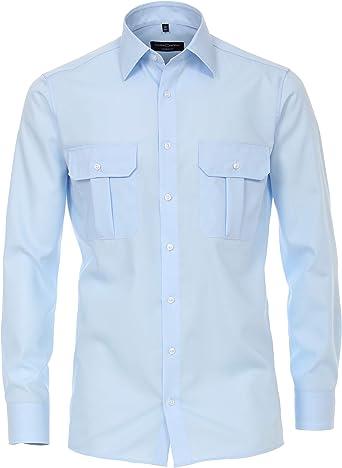 CASAMODA 006910 - Camisa para Hombre, Estilo Popelina: Amazon ...