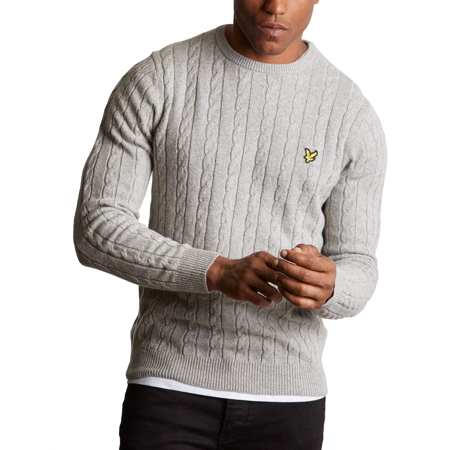 TALLA XL. Lyle & Scott Men Knitted Pullover Cable