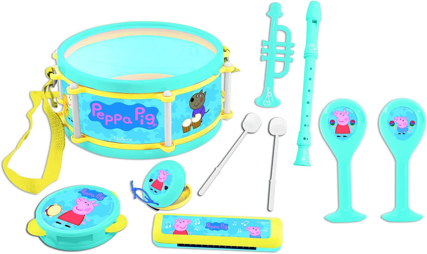 Peppa Pig- Set Musical 7 Instrumentos En 1, Color Azul/Amarillo ...
