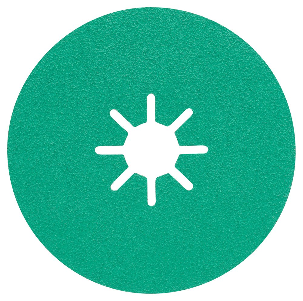 Bosch 2608608296 Abrasive Disc on Fiber R584 Best For Stainless Steel 115 mm 22 mm, Green, 2608608297