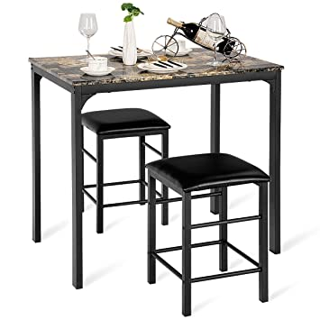 Ensemble De Cuisine Set Costway Table 2 Chaises Et roWCBEedxQ
