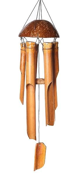 Carillones de viento - Coco y bambú - 35 cm de largo y Fairtrade - hecho