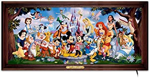 The Bradford Exchange The Magic of Disney Stained-Glass Panorama: Wall Decor