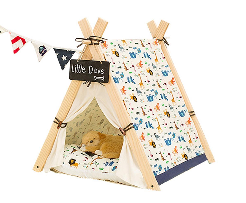 hund katze bett zelt haus f r kleine mittlere haustiere welpen k tzchen zwinger mit dicken. Black Bedroom Furniture Sets. Home Design Ideas