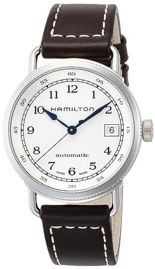 HAMILTON RELOJ DE MUJER AUTOMÁTICO 36MM CORREA DE CUERO COLOR MARRÓN H78215553: Amazon.es: Relojes