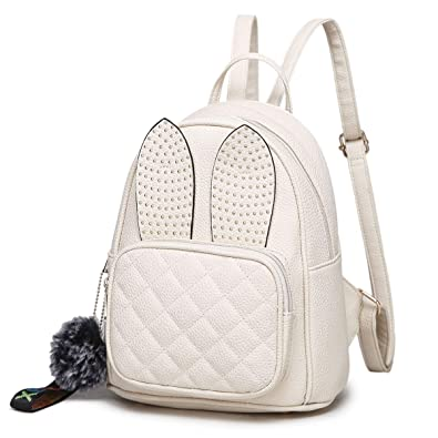 ad36a594e9e Amazon.com: Girls Rabbit Ear Cute Mini Backpack, XB Small Backpack Purse  for Women Fashion Shoulder Bag (Beige1): Shoes