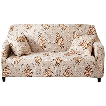 FORCHEER Couch Covers 1 Piece Stretch Printed Sofa Covers For 2 Cushion  Couch Sofa Furniture Protector