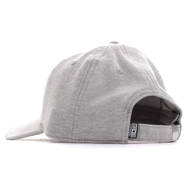 d546e65c Converse All Star Fleece Pre-Curved Mens Baseball Cap Hat - Grey:  Amazon.co.uk: Clothing