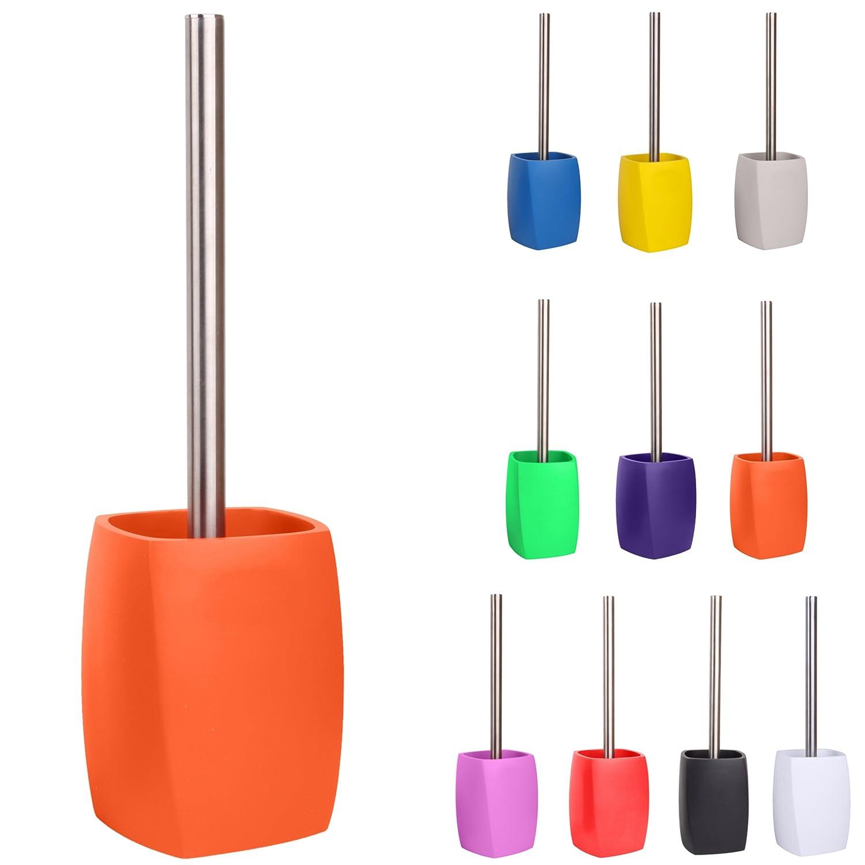 facile de pulire Wave Orange con testina sostituibile grande scelta di belli scopini wc Scopino wc maniglia di acciaio inossidabile