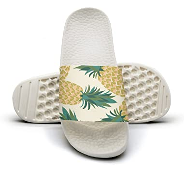 amazon com tropical pineapple fruit non slip soft foams slipper