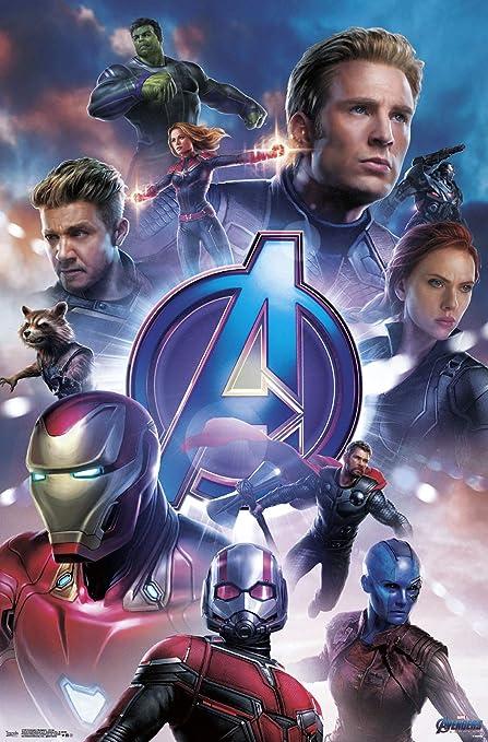 Amazon Com Trends International Avengers Endgame Group Wall
