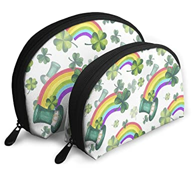 f7b60120 Image Unavailable. Image not available for. Color: Cosmetic Bag St. Patrick's  Day Rainbow ...