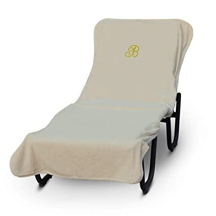 Strange Luxury Hotel Spa Monogrammed Pool Chaise Lounge Cover Gold Embroidered Towel Extra Absorbent 100 Turkish Cotton Soft Terry Finish Alphanode Cool Chair Designs And Ideas Alphanodeonline