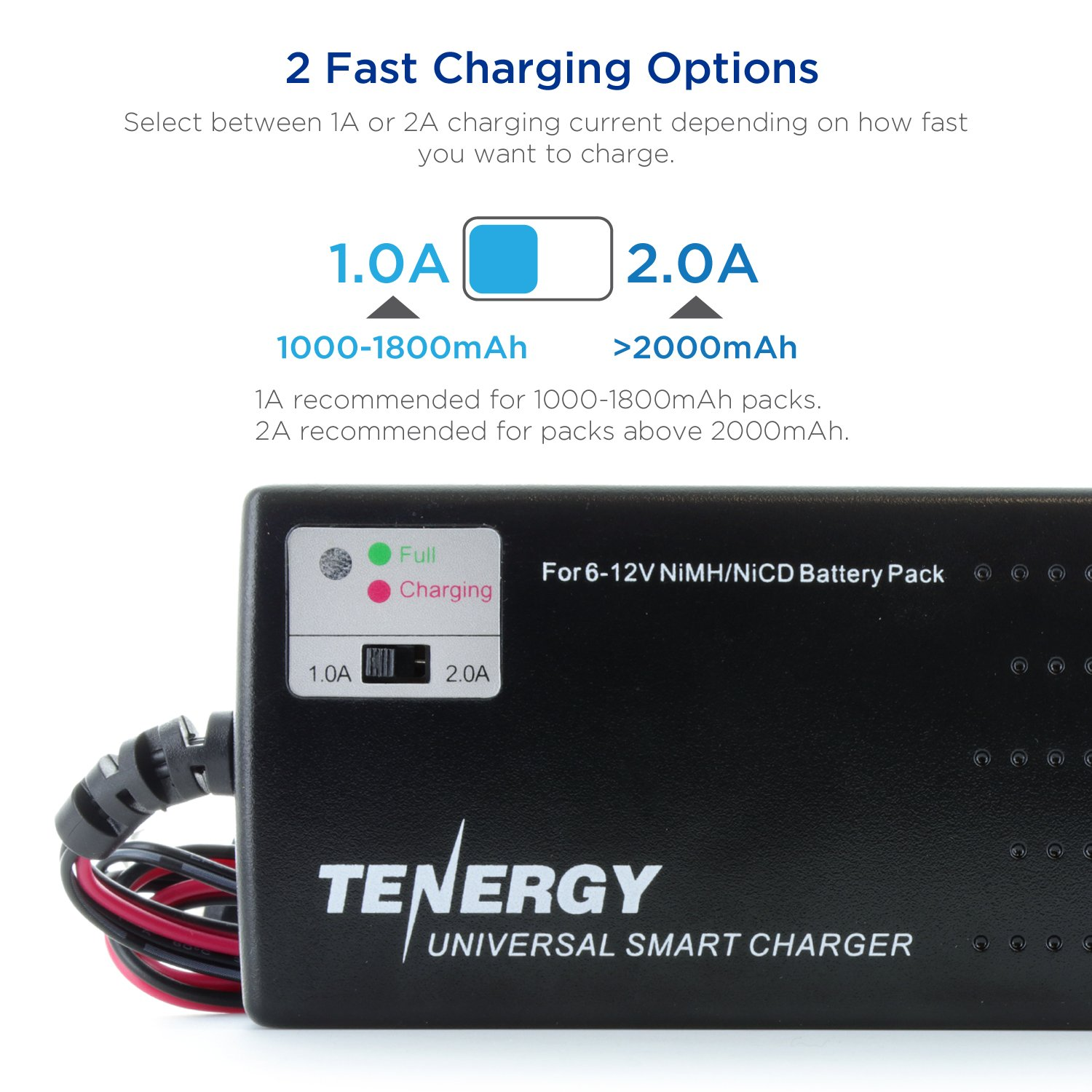 Tenergy Universal Rc Battery Charger For Nimh Nicd 6v Simple Electronic Circuits 12v Packs Fast Car Airsoft Batteries Compatible With Standard