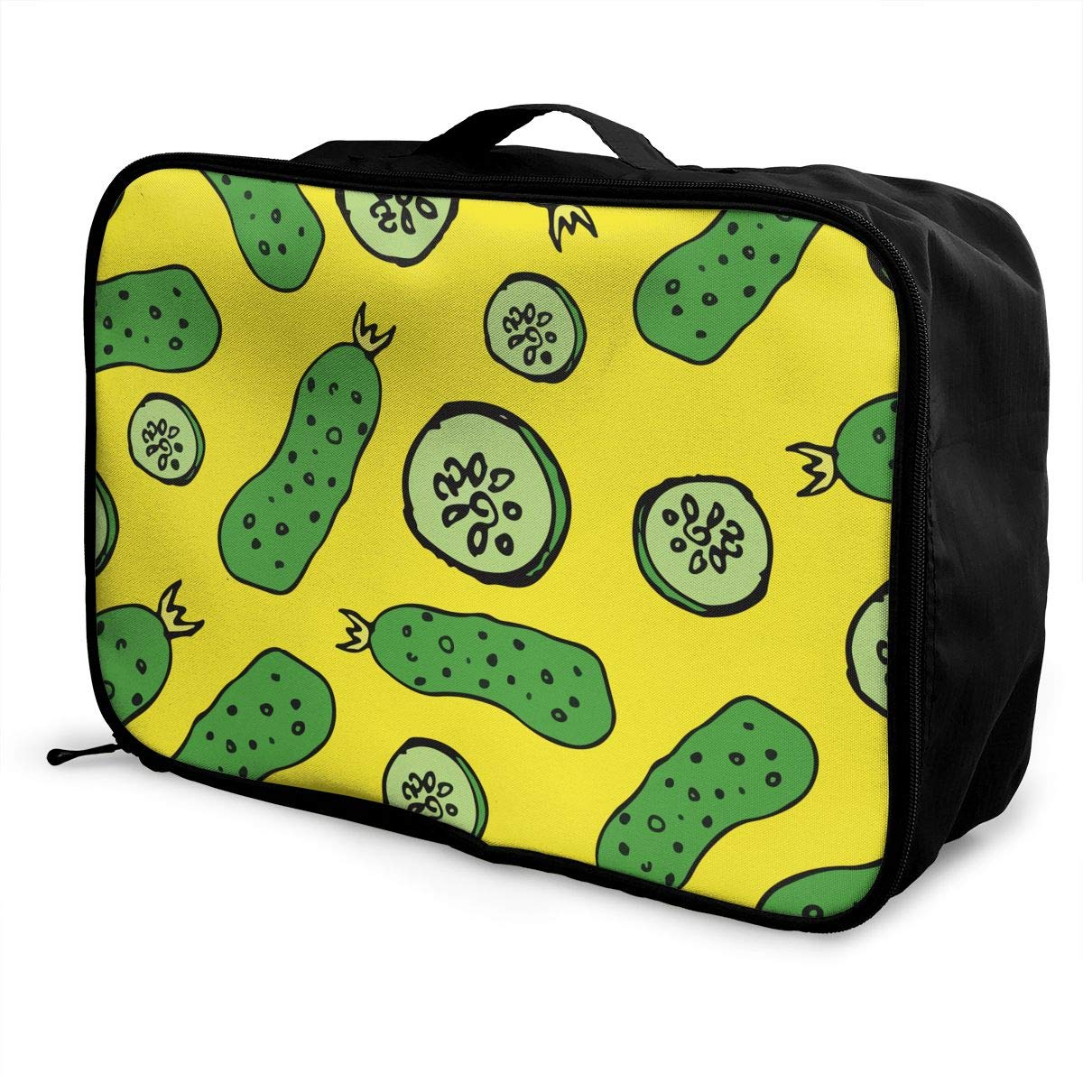 YueLJB Green Cucumber Lightweight Large Capacity Portable Luggage Bag Travel Duffel Bag Storage Carry Luggage Duffle Tote Bag