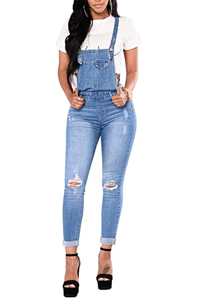 super service variety design 2019 factory price Amazon.com: Ybenlow Womens Ripped Jeans Overalls High ...
