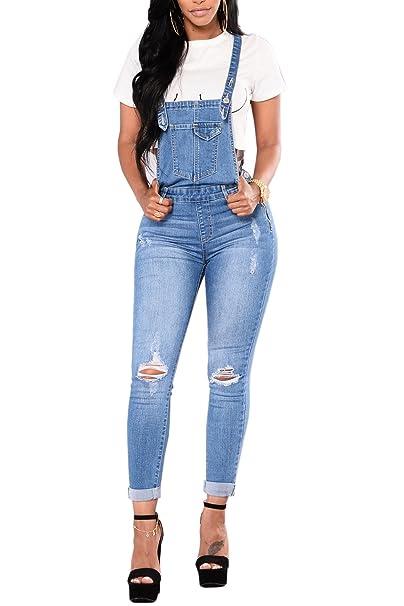 Amazon.com: Ybenlow - Pantalones vaqueros largos para mujer ...