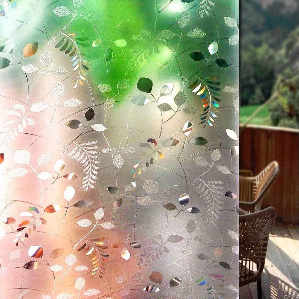 Effet de Couleur sous la Lumi/ère S162 Shackcom 3D Film de Vitre Fen/être Auto-adh/ésif 60x200cm Electrostatique Prot/ége Intimit/é Anti-UV Anti-Regard Film D/écoratif pour Maison Bureau Chambre Cuisine