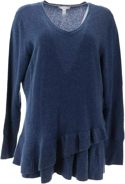 Isaac Mizrahi Cashmere Rapid rise Ruffle New sales A343270 Peplum Sweater