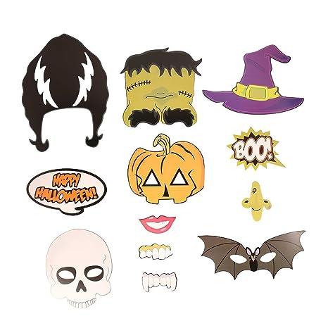 il più economico più economico nuove foto Fenical 12pcs Halloween Photo Booth Bar Festa Halloween ...