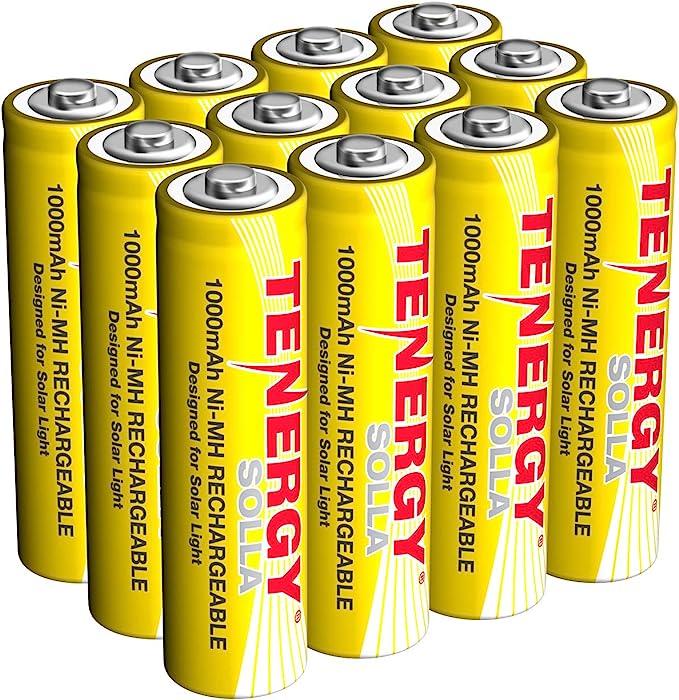 Batteries in solar lights